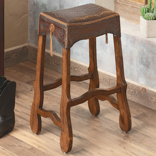 San Antonio Leather Barstool