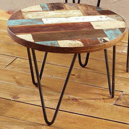 San Miguel Reclaimed Wood Side Table - Small