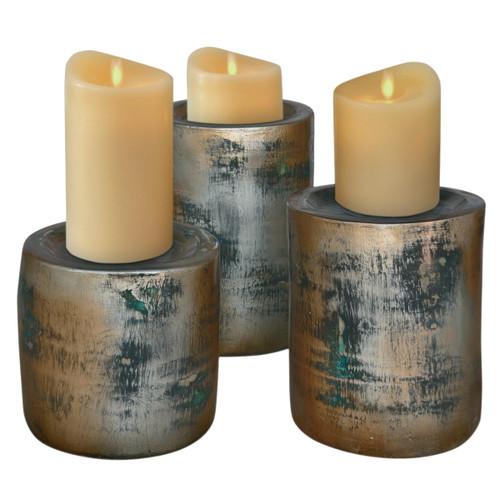 Sandstorm Candle Holders - Set of 3