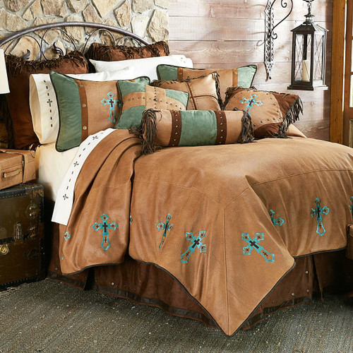 Santa Cruz Turquoise Bed Set - Queen