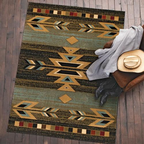 Santa Fe Ebony Rug - 8 x 10