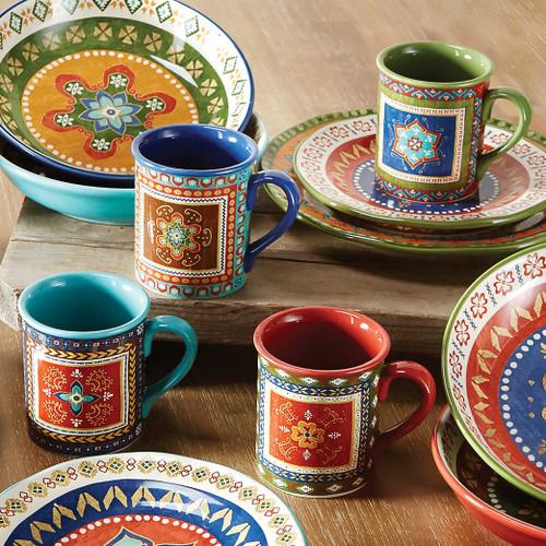 Santa Fe Mugs - Set of 4