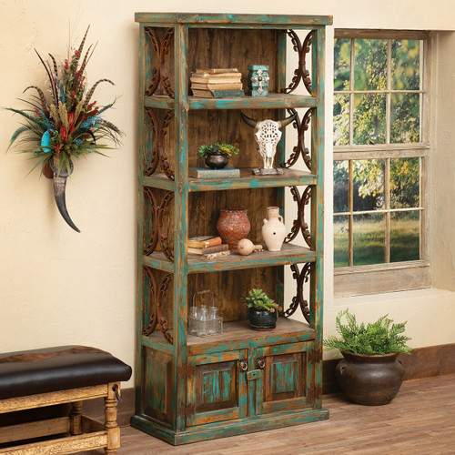 Santa Fe Turquoise Bookshelf