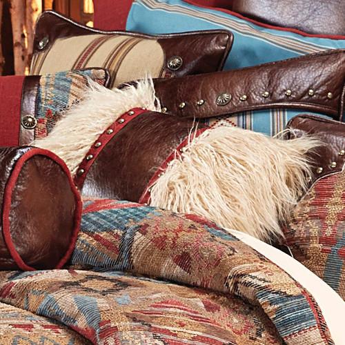 Santa Rosa Oblong Mongolian Faux Fur Pillow