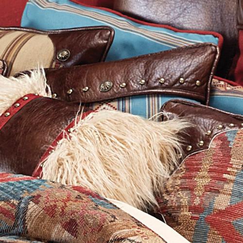 Santa Rosa Turquoise Striped Square Pillow
