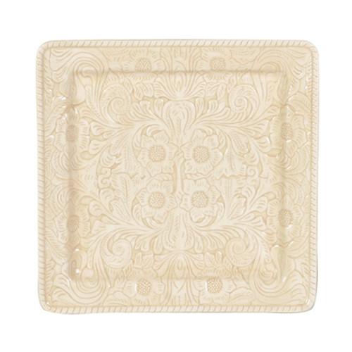 Savannah Cream Serving Platter