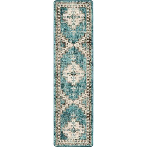 Sedona Nights Turquoise Rug - 2 x 8
