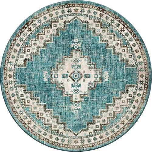 Sedona Nights Turquoise Rug - 8 Ft. Round