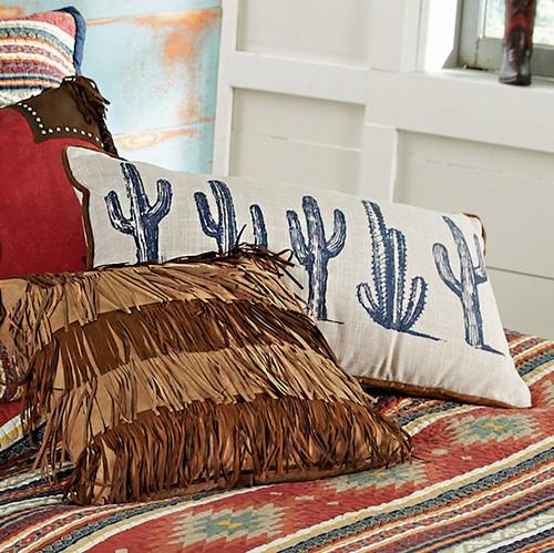 Serape Diamonds Cactus Pillow