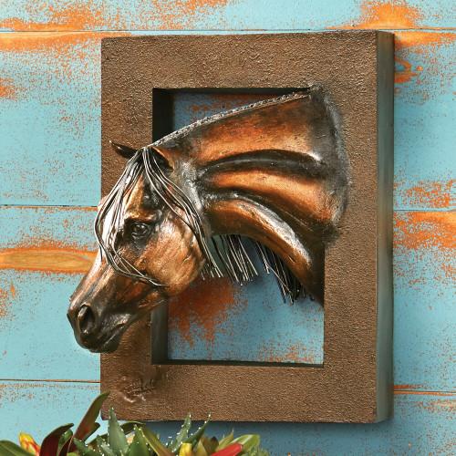 Serenity Horse 3-D Wall Sculpture