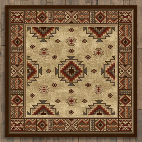 Settlers Retreat Rug - 8 Ft. Square