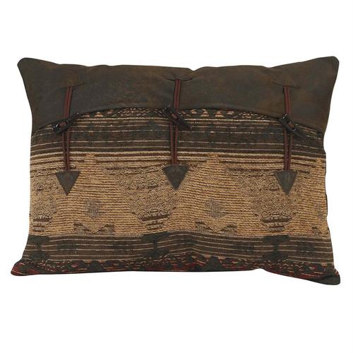 Sierra Chenille Button Clasp Accent Pillow