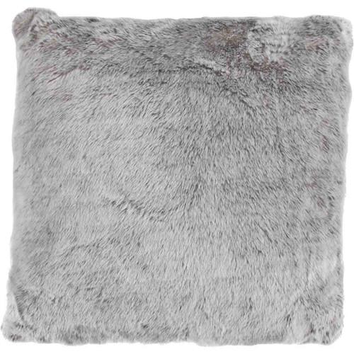 Silver Faux Fur Pillow