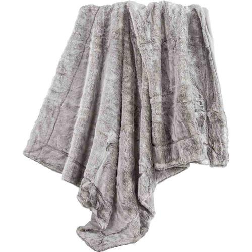 Silver Faux Fur Throw