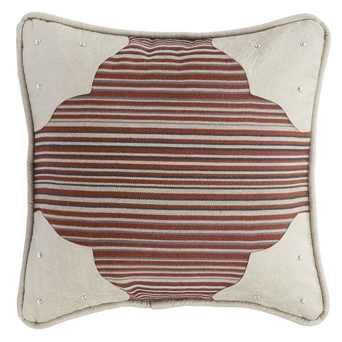 Silverado Leather Corners Pillow
