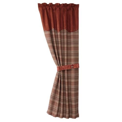 Silverado Stripe Curtain and Tie Back - OVERSTOCK
