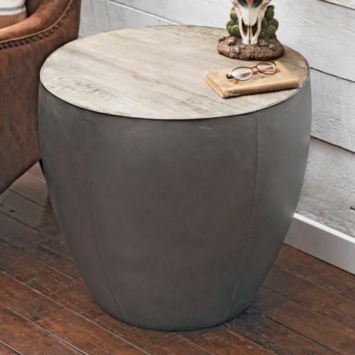 Silverthorne Metal & Wood End Table