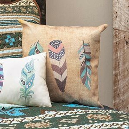 Sky Feather Square Pillow