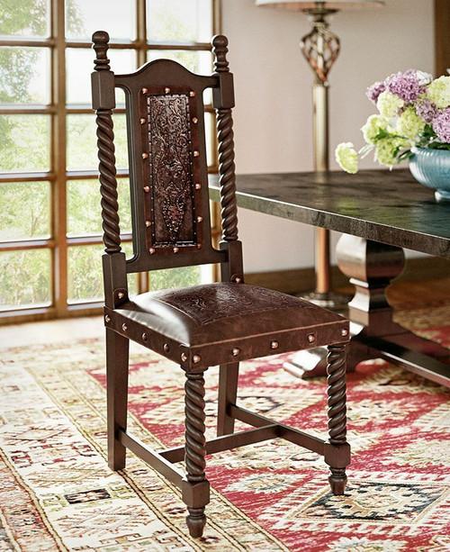 Soloman Chair Colonial, Antique Brown