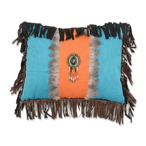Feather Medallion Pillow