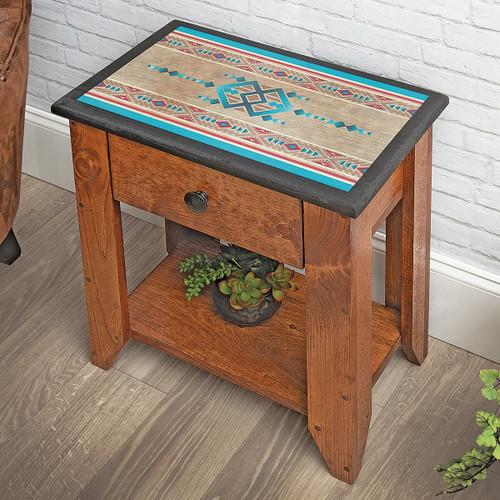 Southwest Aztec Side Table