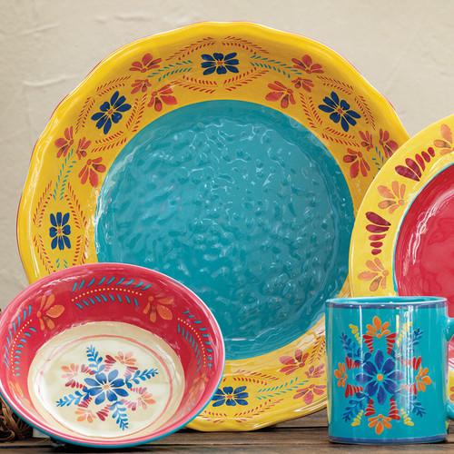 Southwest Bloom Dinner Plates - Set of 4