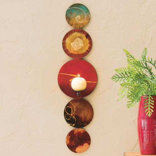 Southwest Circles Candle Holder