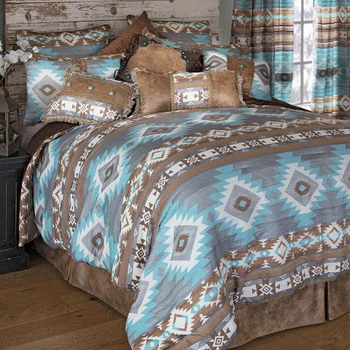 Southwest Diamonds Chenille Bed Set - Queen