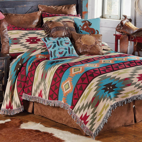 Southwest Expressions Tapestry Coverlet - Queen