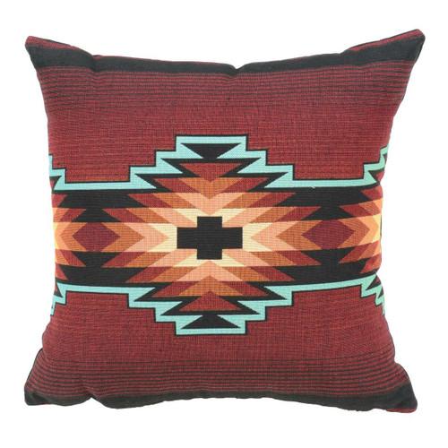 Red Sunset Southwest Geometric Pillow