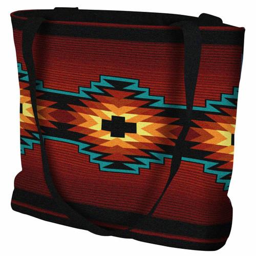 Southwest Geometric Deep Red Tote Bag
