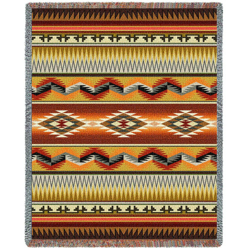 Southwest Geometric Flame Blanket