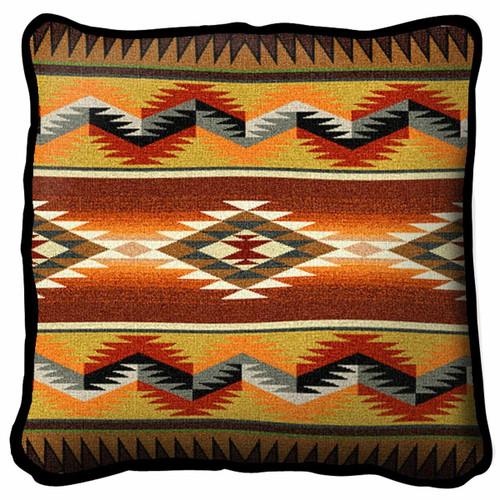 Southwest Geometric Flame Pillow
