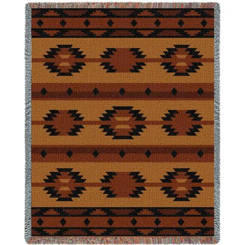 Southwest Geometric Tan Blanket