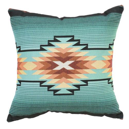 Turquoise Diamond Southwest Geometric Pillow