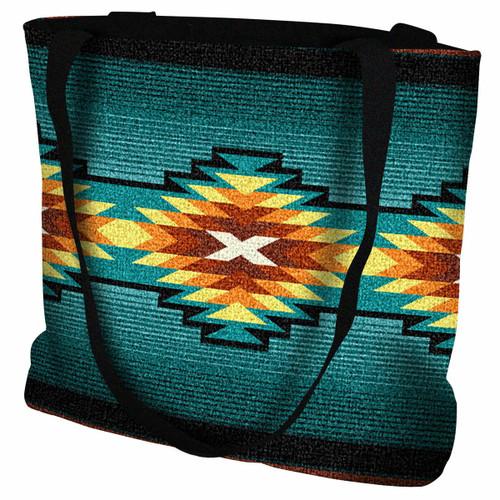 Southwest Geometric Turquoise II Tote Bag