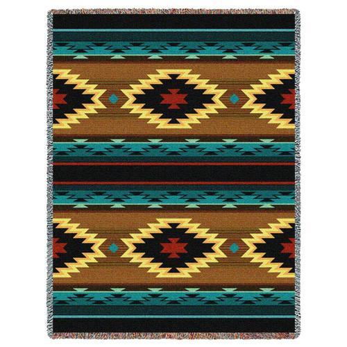 Southwest Geometric Turquoise Throw