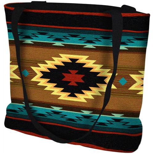 Southwest Geometric Turquoise Tote Bag