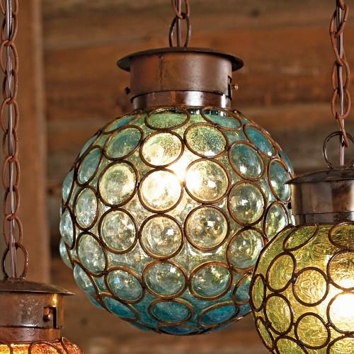 Southwest Glass Sphere Pendant Light - Large