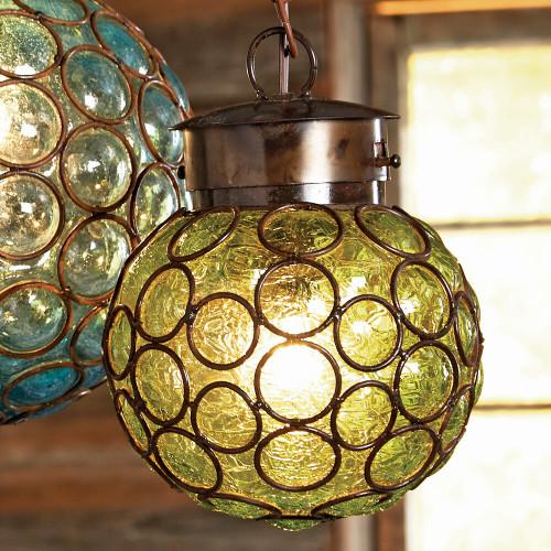 Southwest Glass Sphere Pendant Light - Medium