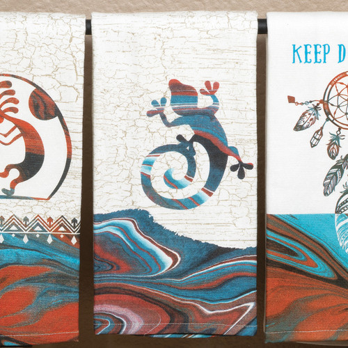 Southwest Impressions Gecko Dual Purpose Towel