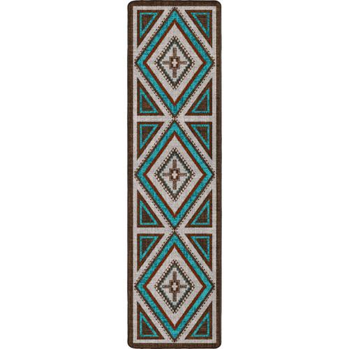 Southwest Nights Turquoise Rug - 2 x 8