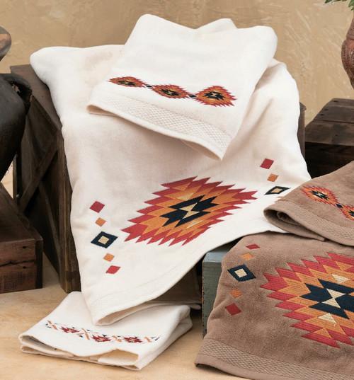 Southwest Sedona Towel Set - Cream