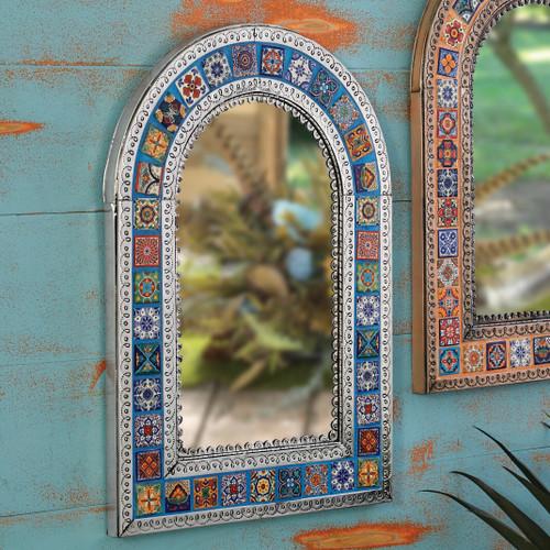 Southwest Talavera Mirror - Blue