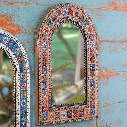 Southwest Talavera Mirror - Orange
