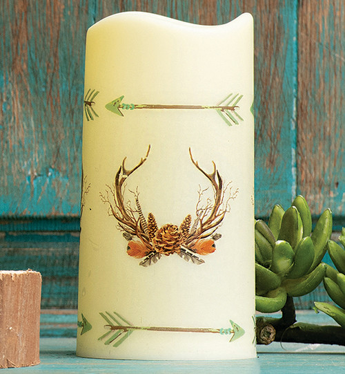 Southwest Visions Antlers LED Candle