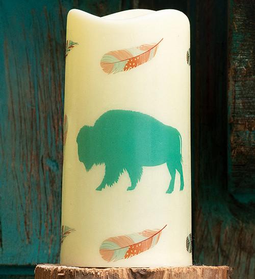Southwest Visions Buffalo LED Candle