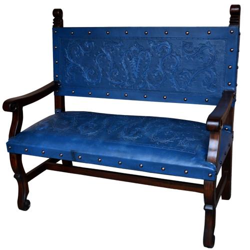 Spanish Heritage Bench - Blue