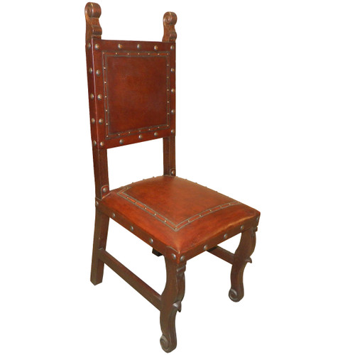 Spanish Heritage Chair with Nailheads - Brown