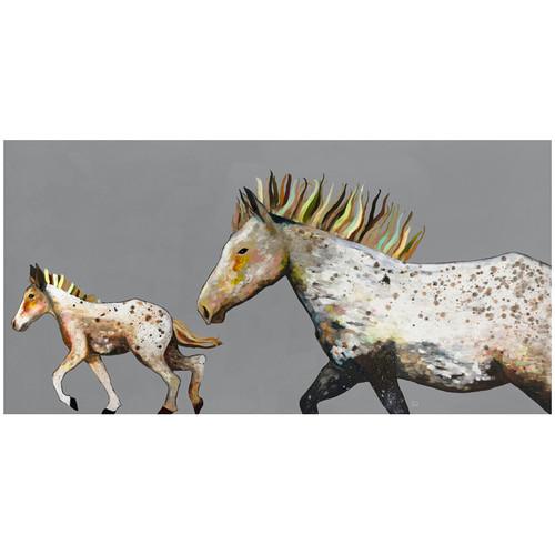 Pony Gallop Canvas Art - 36 x 18